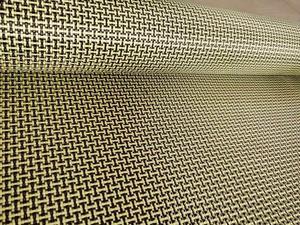 Image 3 - 1100D / 3K 200gsm I Del Tessuto Giallo Kevlar e fibra di Carbonio misto Tessuto Tinta Unita Hybrid Carbon Kevlar Panno