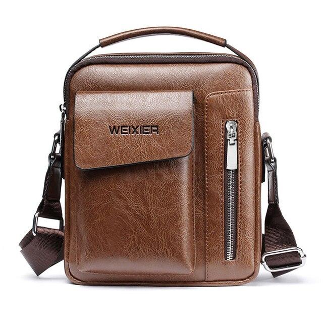 Повседневная мужская сумка через плечо, винтажные сумки через плечо, высокое качество, мужская сумка из искусственной кожи, вместительная мужская сумка-мессенджер, сумка-тоут