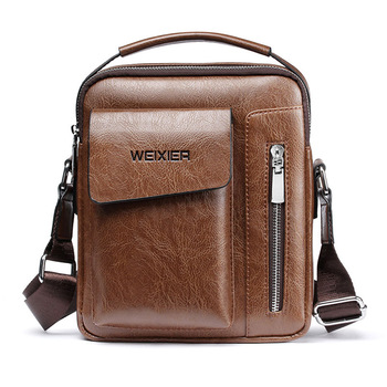 Casual Men Shoulder Bag Vintage Crossbody Bags High Quality Male Bag PU Leather Handbag Capacity Men Messenger Bags Tote Bag