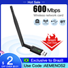 600Mbps Dual Band 2.4Ghz/5Ghz Mini USB 2.0 Wlan Wifi Wireless Adapter Dongle Network Card 802.11AC For PC Laptop Windows 7/8/10