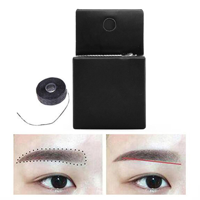 Semi Permanent Positioning Eyebrow Measuring Tool Mapping Pre-ink String For Microblading Eyebow Make Up Dyeing Liners Thread