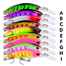 6g / 7cm Longmouth Lure Bait 1pcs Minnow Fishing lures Ocean Boat 3D Eyes Plastic Hard Jerkbait Fish Leurre Peche Mer 8# Hooks(China)