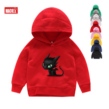 Boys Girls How To Train Your Dragon Toothless Cartoon Print Hoodies Sweatshirts Kids Funny Winter White Long Sleeves