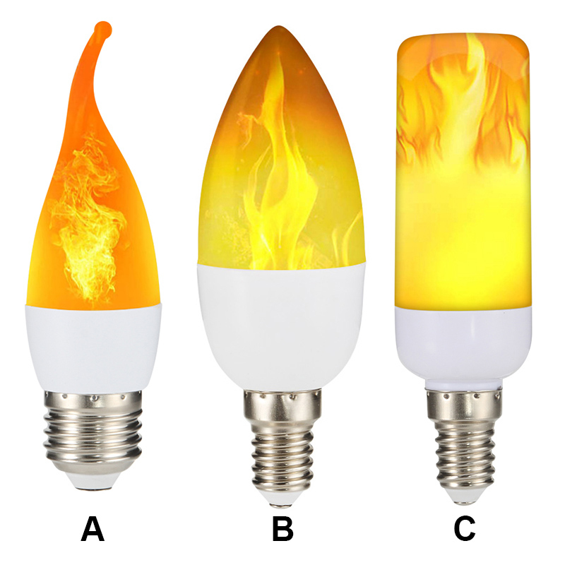 E27 LED Light Bulb Flame Effect Fire Lamps Flickering Emulation 3W  Decor LED 85-265V Creative Flickering Emulation Lamp Bulbs