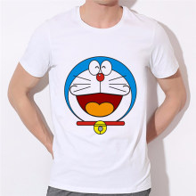 Mannen Cartoon zomer t-shirt DORAEMON mannen t-shirt casual familie korte mouwen Factory outlets kan worden aangepast(China)