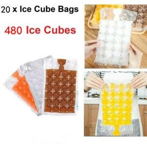 Одноразовый пакетик для кубиков льда, 20 шт., самоуплотняющийся пластиковый блок, очень хорошее качество, сумки для повара, сумка для ножей