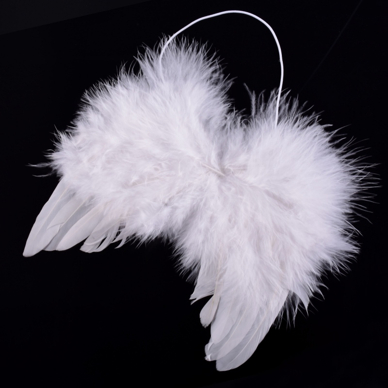 Angel Wings White Feather Fairy Wings Newborn Baby Kids Dance Party Cosplay Costume Stage Show For Photo Photography Props