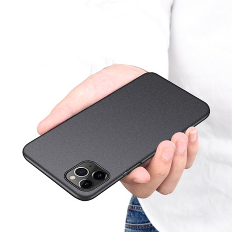 Slim Sandstone Full Cover Hard Matte Case For iPhone 12
