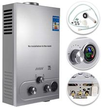VEVOR Propane Gas LPG Tankless Hot Water Heater 6/8/10/12/16/18L 4.8GPM Stainless Steel Propane On-Demand Gas Water Heater