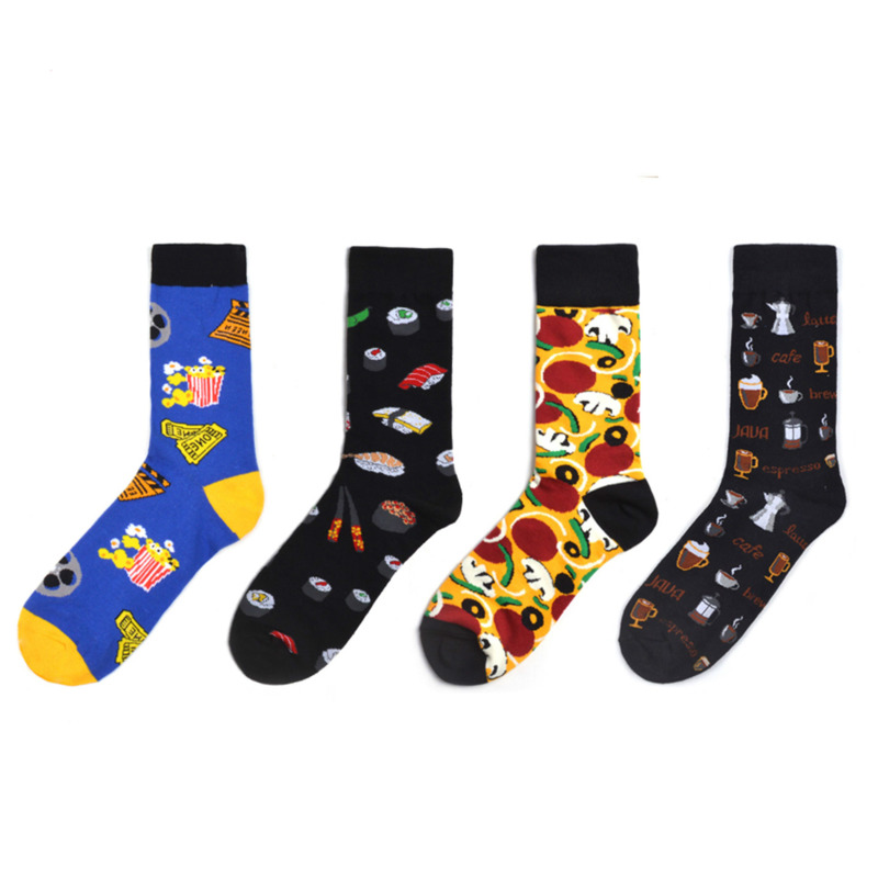 2020 Hot Sale Casual Men and Women Socks New Socks fashion design Plaid Colorful happy Business Party Dress Cotton Socks