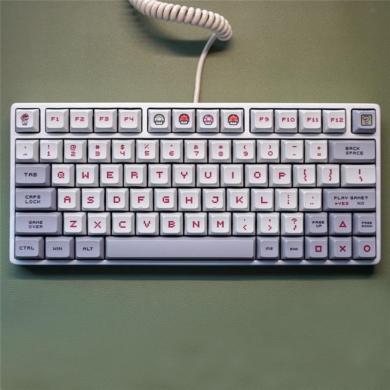 LEORY 104 Key KeyCap PBT Sublimation PBT Mechanical Keyboard XDA Key Cap Adapts To GH60 GK61 GK64 (Not Keyboard)