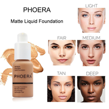 PHOERA Soft Matte Foundation Long Lasting Liquid Face Makeup Coverage Natural Oil Control TSLM2