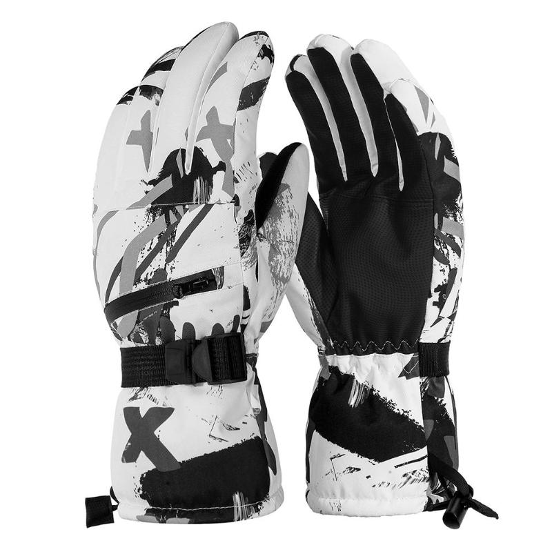 Unisex Ski Gloves Outdoor Winter Waterproof Touchscreen Snowboard Mountaineering Motorcycle Riding Men Women Cycling Warm Gloves