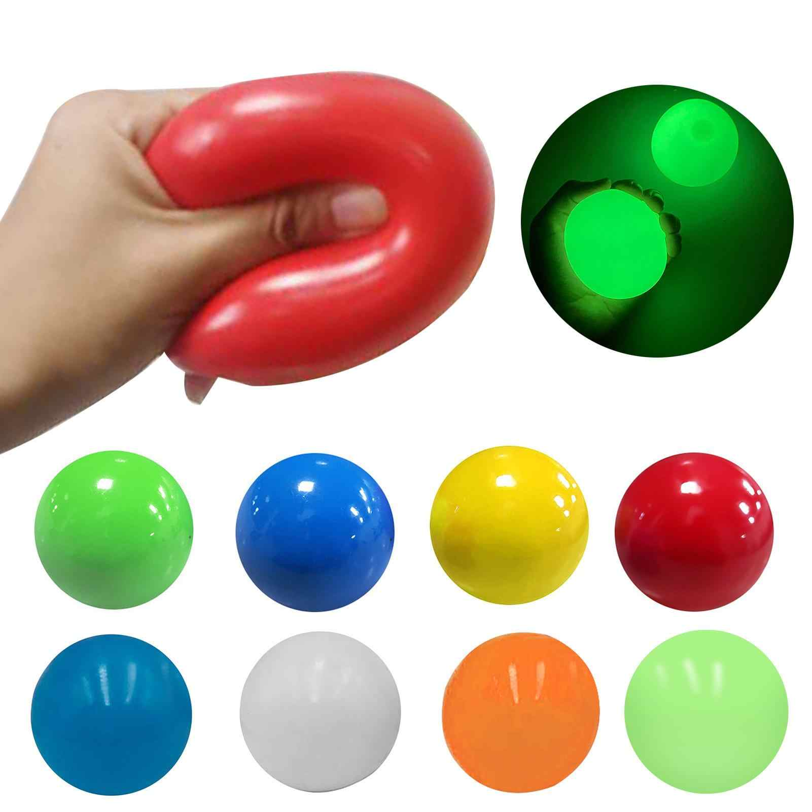 4PC Sticky Wall Balls for Ceiling Stres Relief Globbles Squishy Relief Kids Toy