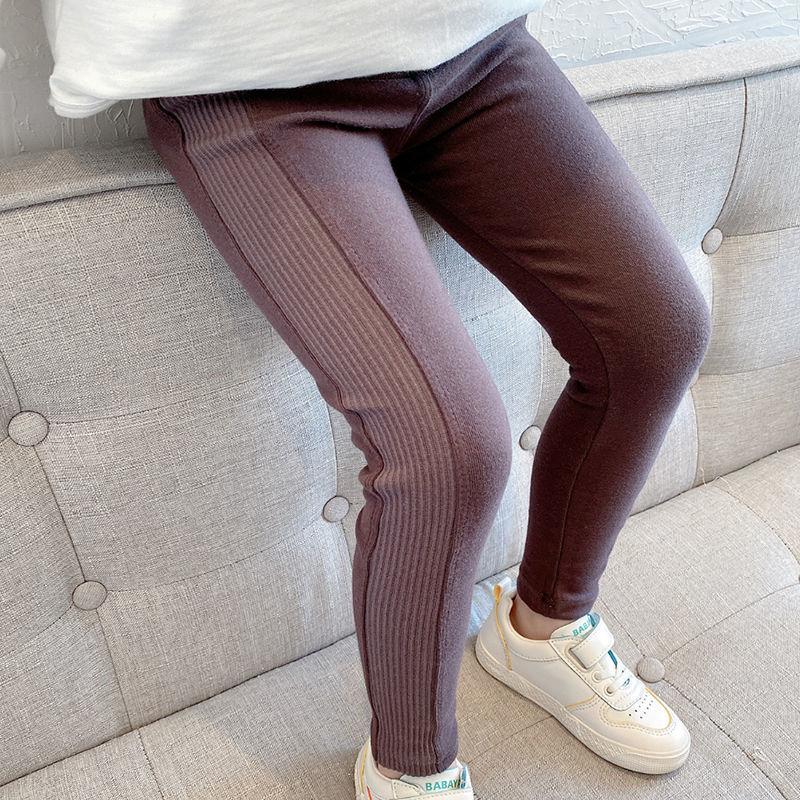 Vidmid New Grils Pants Children Winter Thick Fleece Warm Trousers Girls Leggings Warm Elastic Waist Cotton Leggings P215 2