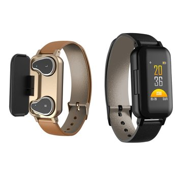 T89 Stereo Earphone 5.0 Smart Bracelet Watch Binaural Health Heart Rate Monitoring Sports Smart Watch Men Women