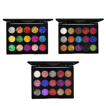 15 Colors Diamond Glitter Eyeshadow Pallete Shimmer Eye shadow Pallete Fashion Beauty Eyes MakeUp Powder Pallete Cosmetics 2