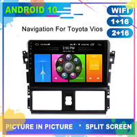 Super Slim OTOJETA Android 10.0 Car DVD Player for Toyota Yaris 2014 2015 2016 Radio GPS Navigation USB Wifi Multimedia Player
