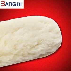 Image 5 - 3ANGNI للجنسين سميكة مكافحة الباردة الصوف الدافئة النعال للأحذية تنفس أفخم الفراء النعال وسادة الدافئة ساخنة باطن أحذية الثلوج الأحذية