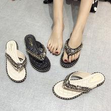 Новинка 2020 женская обувь Тапочки летние пляжные сандалии модные