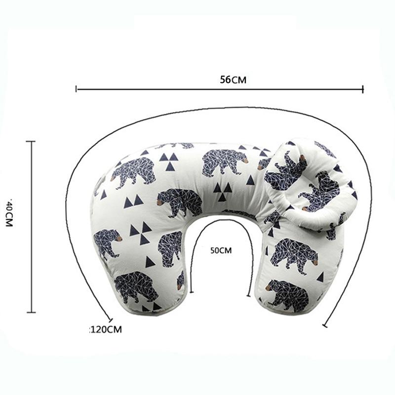 Купить с кэшбэком 2Pcs/Set Baby Nursing Cotton Pillows Maternity Breastfeeding Pillow Infant Bedding Cuddle U-Shaped Newborn Feeding Waist Cushion