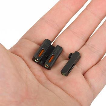 Боевой Нотч задние прицелы Focus-lock для Glock gear Real Red green волоконно-оптический передний для Glock 17 17L 19 22 23 24 26 27 33 34
