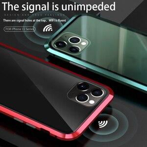 Image 5 - Voor Iphone 11 Pro 2019 Case Dubbelzijdig Gehard Glas Magnetische Adsorptie Full Body Anti Explosie Cover Voor iphone 11 Pro Max