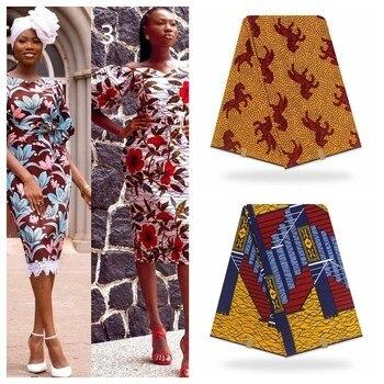 Tela impresa Africana verdadera de la mejor calidad de la verdadera cera de Pagne verdadera tela impresa Ankara 100% de algodón de estilo africano de Nigeria tela de encaje