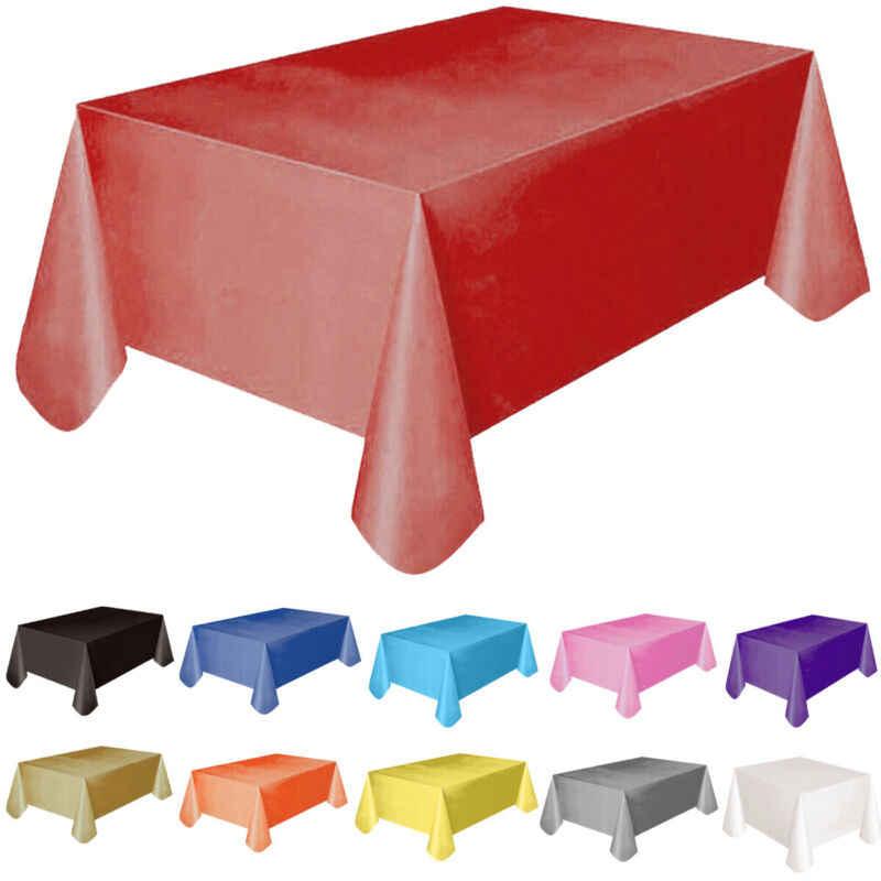 11 ألوان غطاء طاولة بلاستيكي مفرش طاولة غطاء حفل زفاف التموين الأحداث المائدة مفرش طاولة الديكور 137x183 سنتيمتر