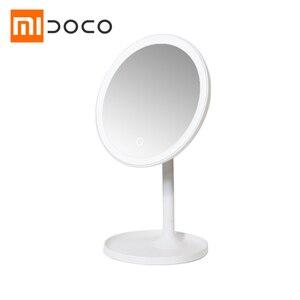 Xiaomi Mijia DOCO HD зеркало для макияжа одностороннее круглое 360 ° зеркало дневного света USB зарядка сенсорный экран Регулируемая яркость Xiomi