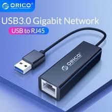 ORICO – carte réseau Lan USB 3.0 2.0 Gigabit Ethernet, adaptateur USB vers RJ45 10M/100 M/1000M, pour Windows 10 8 8.1 7 XP et Mac OS