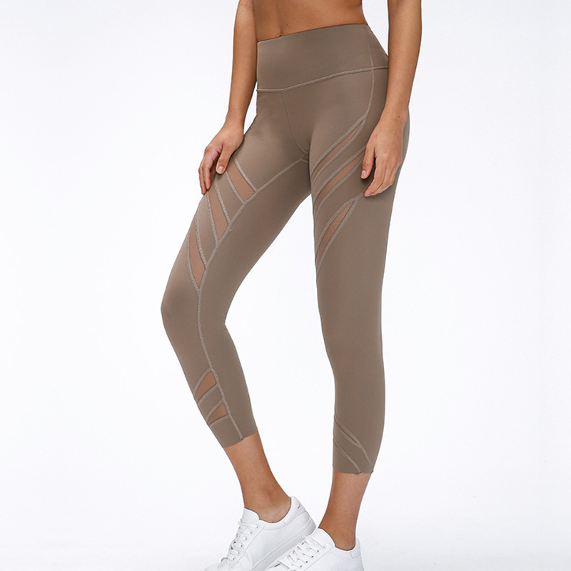 2020 Woman Capris Net Yarn Sexy Gym Capris Super Quality Mesh Stretch Fabric Size Us4-us12 Free Shpping