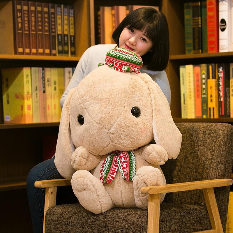 Lapin jouets en peluche grande poupée fille lit pyjama poupée fille Super Meng poupée mignon Non-Pp coton