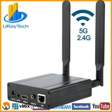 MPEG4 H.264 WIFI HDMI כדי IP וידאו משדר HEVC H.265 לחיות הזרמת שידור H264 H265 מקודד עם RTMP RTMPS SRT RTSP וכו