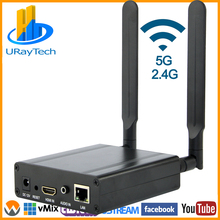 MPEG4 H.264 WIFI HDMI To IPวิดีโอHEVC H.265 ที่ถ่ายทอดสดออกอากาศH264 H265 EncoderกับRTMP RTMPS SRT RTSPฯลฯ
