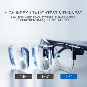 Image 4 - MR 8 כחול אור מחשב עדשות 1.56 1.60 1.67 1.74 אופטי משקפיים מרשם עדשות כחול Ray להגן