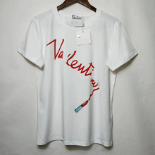 2021 New Spring Women Fashion Luxury Letter Pattern T-Shirt Female Casual High Quality Brand Tops Ladies Embroidery Cotton Tees