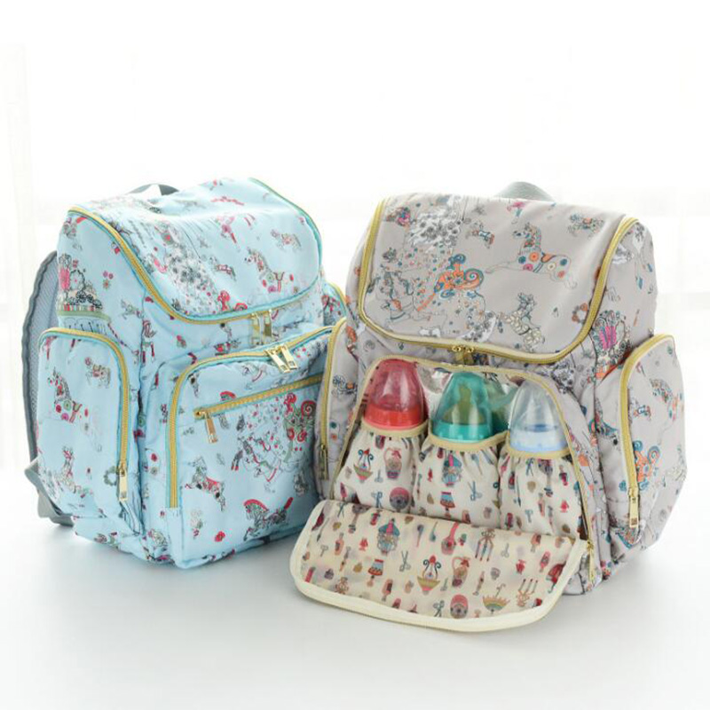 Mummy Maternity Nappy Bag Multifunction Backpack Diaper Bag For Mom Stroller  Portable Newborn Food Storage Bag BNM007