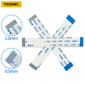 TKDMR Flat flexible cable FFC FPC LCD cable AWM 20624 80C 60V VW-1 FFC-0.5MM 1MM 4pin Connector 50-300MM 4P-40P wire connector(China)