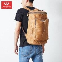 Astz009 backpack Leather Men's bag large capacity luggage bag leisure fashion retro backpack head layer leather messenger bag