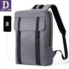 Dide 2020 Для мужчин рюкзак Многофункциональный usb для подзарядки
