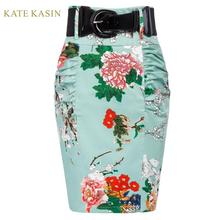 Kate Kasin Office Lady Shirred Detail Floral Print
