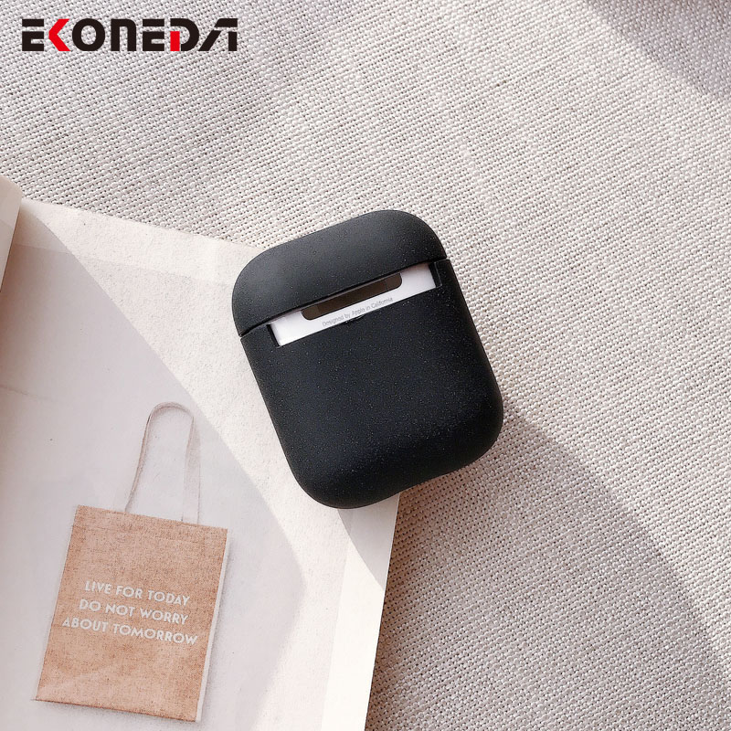 EKONEDA Simple Smile Face Case For Airpods Case Hard Plastic Matte Earphone Box For Airpod 1 2 Cover Case