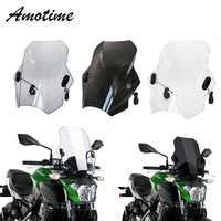 For KAWASAKI Z650 Z800 Z900 Z1000 Universal Motorcycle Windscreen Windshield Covers Screen Smoke Lens Motorbikes Deflector