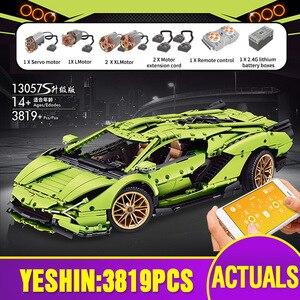 Image 4 - Mould King 1:8 APP Motorized Techinc Car Toys Compatible With 42115 Sian FKP 37 Car Building Blocks Bricks Kids Christmas Gift