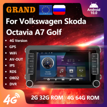 GRAND 2 Din Android 10 Für VW/Volkswagen/Golf/Passat/Touran/Skoda/Octavia/polo/Sitz Auto Multimedia-Player GPS Radio 2din Keine DVD