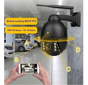 Автоматическое отслеживание 4MP наружная камера 2,8-12 мм 4x автоматическое масштабирование человеческое отслеживание Wifi Ip купольная камера Ptz ...
