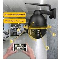 جديد السيارات تتبع في الهواء الطلق كاميرا 2.8-12 مللي متر 4x السيارات التكبير الإنسان تتبع واي فاي Ip Ptz قبة كاميرات 2mp Ir الرؤية اللاسلكية كاميرات
