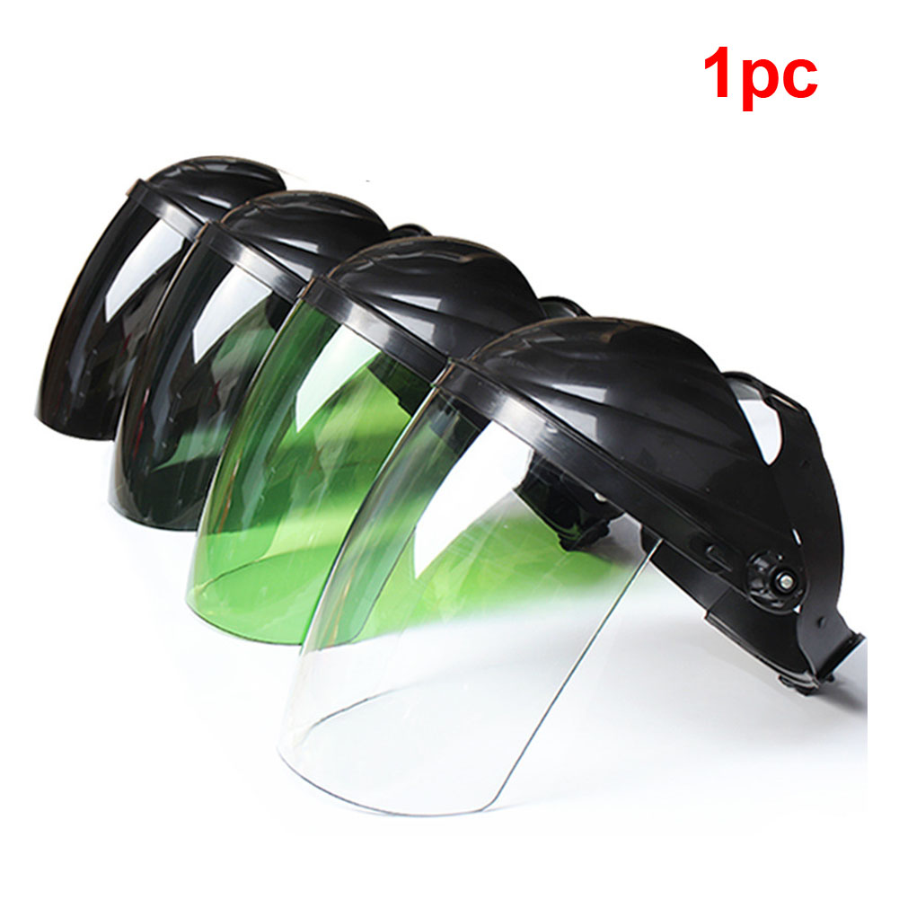 Full Face Safety Soldering Anti Splash Protective Mask Portabe Brush Cutter Welding Helmet Tool Head-mounted Hat Guard Electric