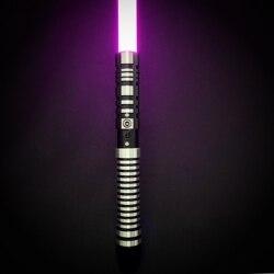 TXQsaber RGB sabre laser 7/8 pouces lame de duel poignée en métal, Force FX avec 6 ensembles de sons et 12 couleurs jouet pour Kids-OT002